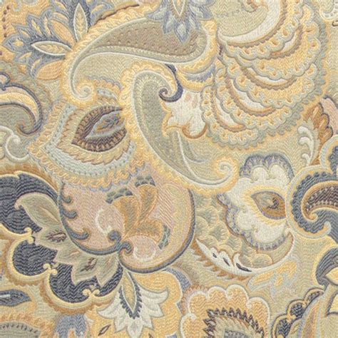 Victorian Bathrooms Decorating Ideas Blue White And Gold Abstract Floral Upholstery Fabric By