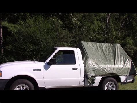 diy truck bed cer diy truck tent youtube