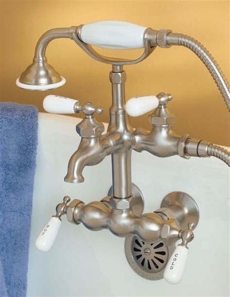 clawfoot bathtub fixtures clawfoot tub faucet with diverter and hand shower