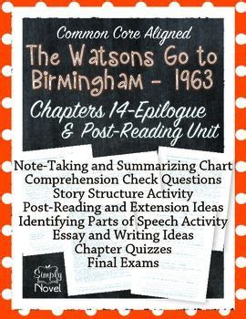 Watsons Go To Birmingham Chapters 14 Epilogue And Post
