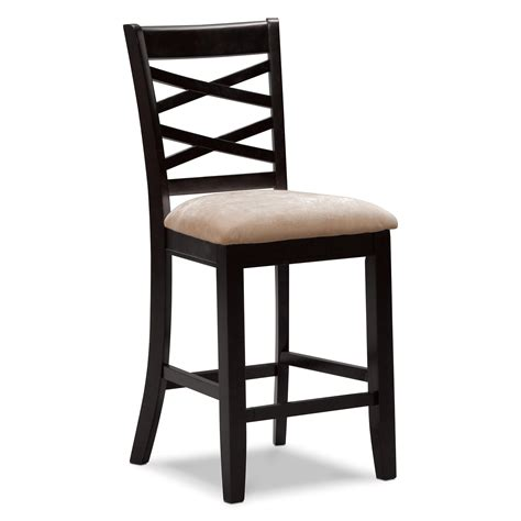 bar stools heights davis counter height stool espresso furniture com