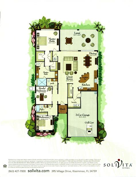 solivita floor plans the queen palm collection st john floor plan in solivita