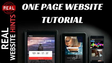 Single Page Website Tutorial Wordpress | one page wordpress website tutorial wordpress parallax