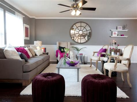 purple and grey living room photo page hgtv