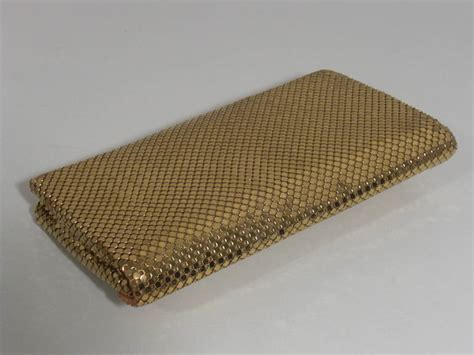 Other Designers Scoop Mesh Metal Clutch by 1950s Whiting And Davis Gold Mesh Clutch At 1stdibs