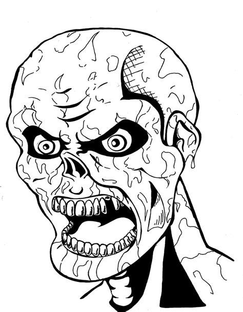 scary coloring pages of zombies creepy coloring pages for teens coloring pages