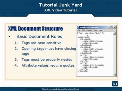 xml tutorial videos download xml tutorial 14 xml document structure youtube