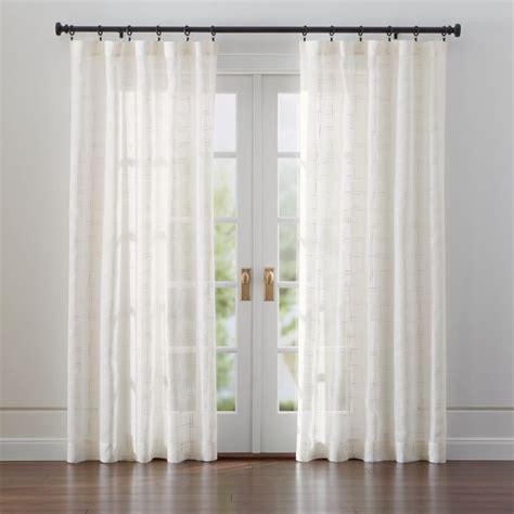 briza sheer cream linen curtains crate  barrel