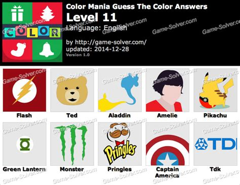 guess the color answers color mania guess the color level 11 solver