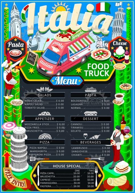 coq a doodle do food truck menu food truck menu food pizza festival vector poster