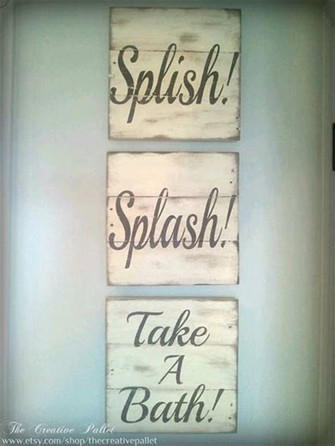 Bathroom Plaque by Bathroom Sign Vintage Pallet Wood Signs By Thecreativepallet 60 00 Wood Signs For Days