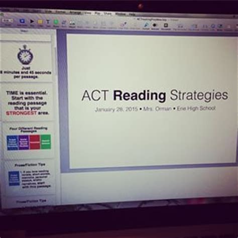 act reading section tips ps presentation and act reading strategies on pinterest