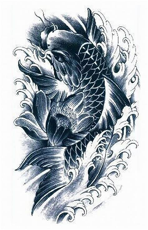 black and grey koi fish tattoo designs black and grey koi fish designs grey ink koi fish