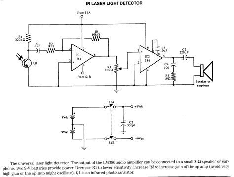 laser light detector circuit electronic circuits infrared electronic schematics page