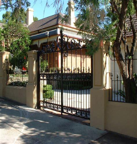 luxury fence design wrought iron fences and gates sydney advance wrought