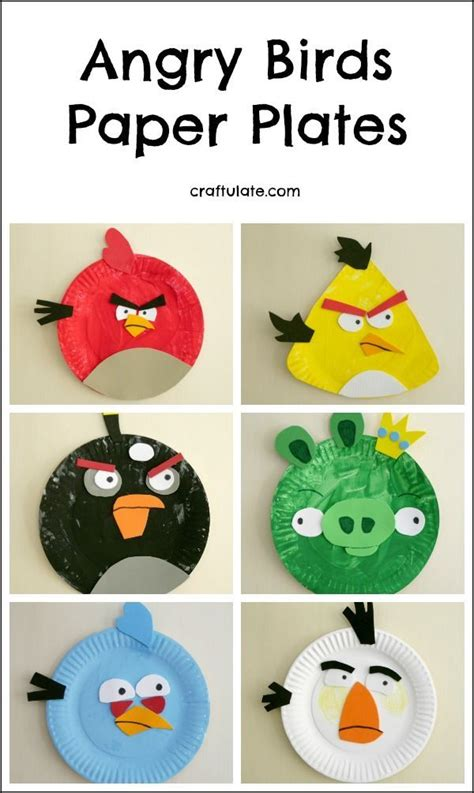 Angry Bird Paper Plate Craft - 25 best ideas about angry birds on angry