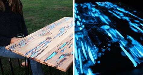 glow in the table awesome diy table with glow in the resin