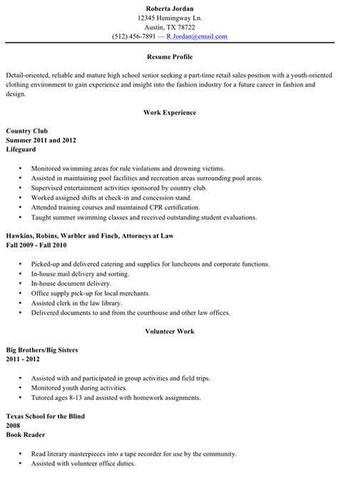 Resume Exles For Highschool Graduates Resume Sle High School Graduate For Free Tidyform