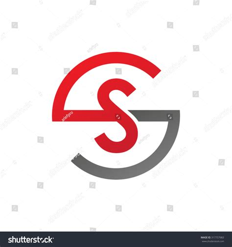 ss initial company circle s logo stock vector illustration 317757983