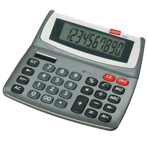 Desk Top Calculator by Staples 540 Desktop Calculator Staples 174