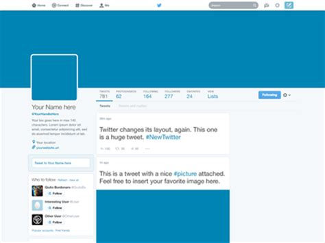Template Layout Twitter | freebie twitter 2014 gui psd new profile template by