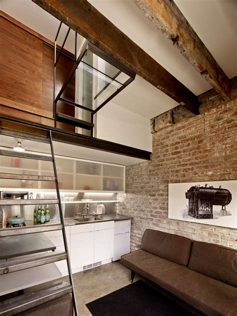 160 square foot micro apartment in a tiny brick house idesignarch interior design
