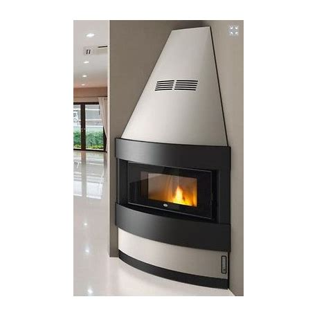 camino a pellet angolare camino angolare completo pellet 12 kw cheminee fireplace