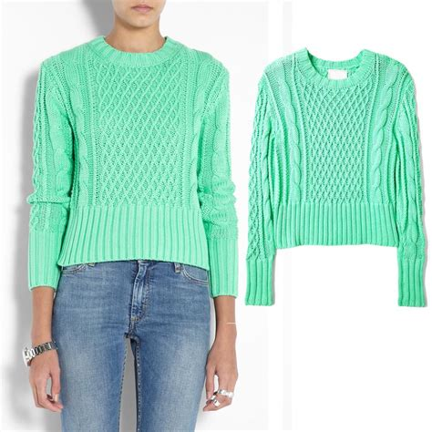 aliexpress buy pullovers mint green sweater acne
