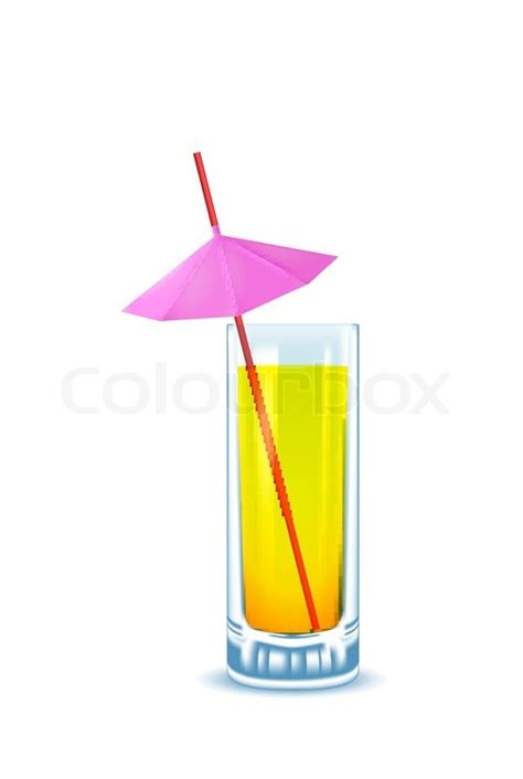 martini glass with umbrella yellow cocktail glass with straw and umbrella stock