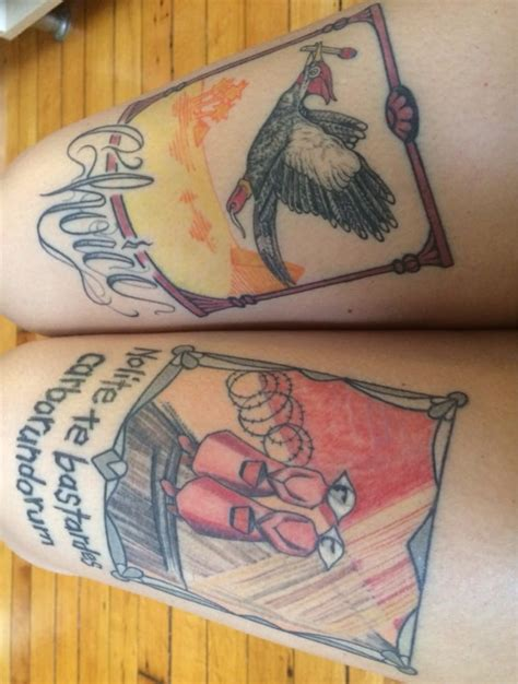 no ka oi tiki tattoo my quot literary legs quot by still with