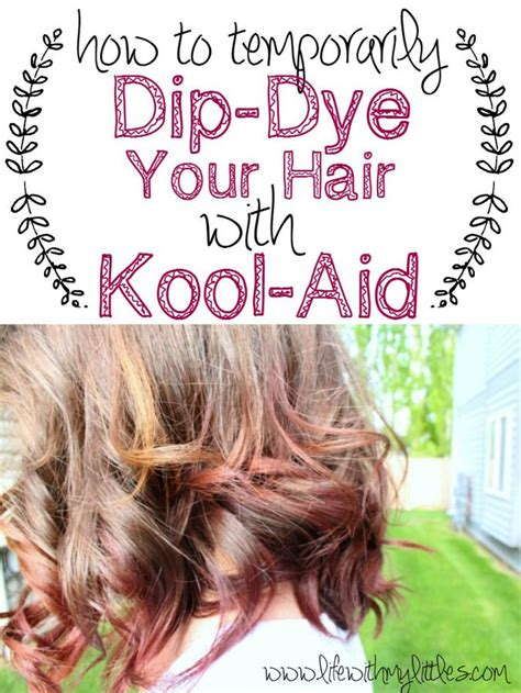 coloring hair with kool aid how to dip dye your hair with kool aid coloring kool