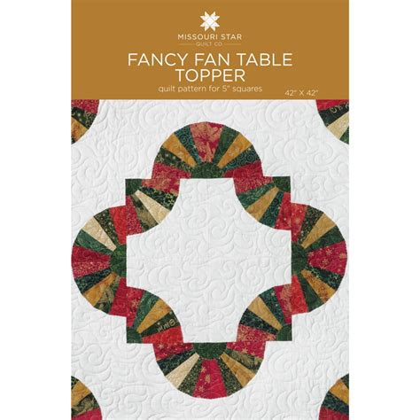 Fancy Fan Table Topper Pattern By Msqc Missouri Star Quilt Co Wholesale Table Topper Template