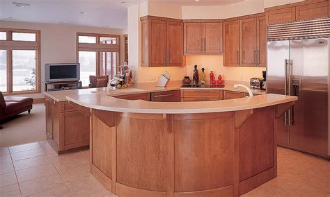 curved kitchen islands curved kitchen island birch wood kitchen islands
