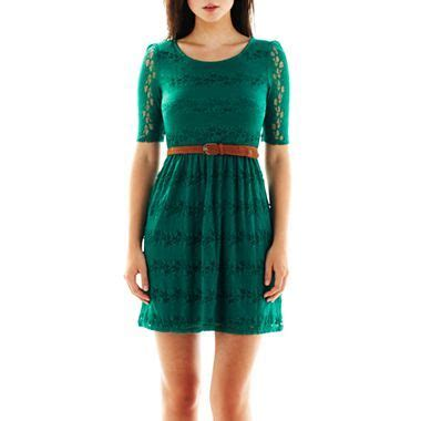 by by belted lace dress jcpenney clothing