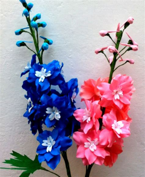 Plants Used For Paper - how to make paper flower delphinium larkspur flower