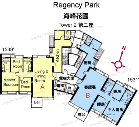 floor plan of regency park gohome com hk