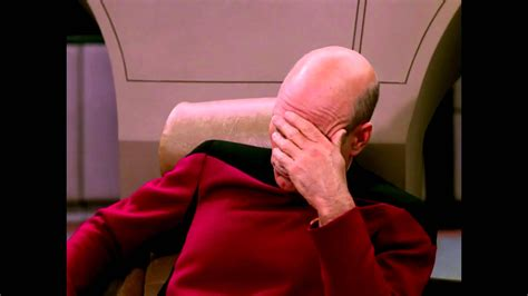 picard facepalm good lord youtube