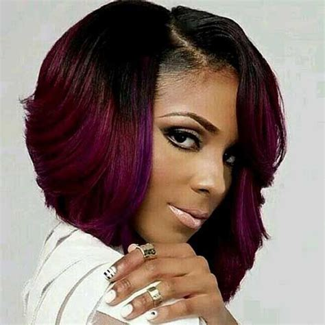 hair weave for feathered ombre hairstyle for african american only short ombre bob weave styles for black women jpg 500 215 500