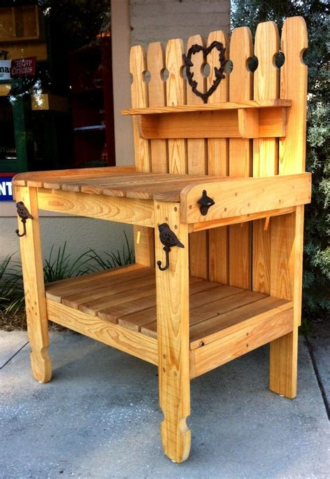 cypress potting bench made from full 1 quot thick locally milled cypress this