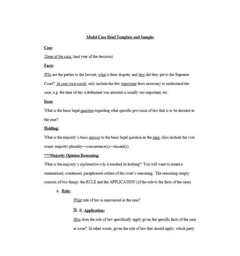 case brief template 01 template lab