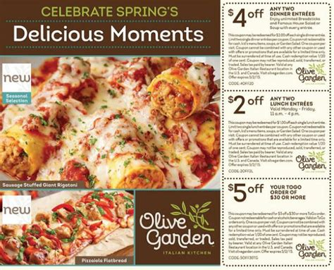 olive garden coupons code 2015 olive garden coupons 4 2 dinner entrees 2 2 lunch