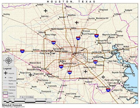 complete map of texas maps map of houston tx