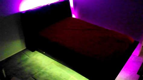 led lights under bed bedroom under bed led light kit youtube