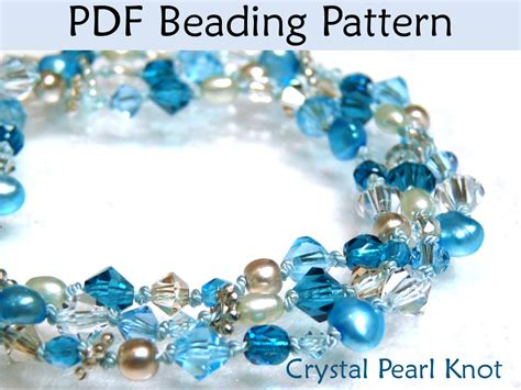 beading pdf beading pattern tutorial pearl knotting simple bead