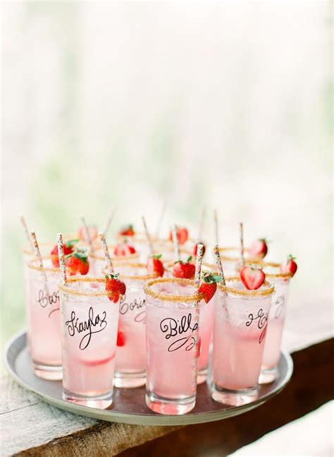 bridal shower inspiration signature drinks 187 project