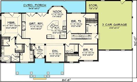 ranch floor plans with bonus room 3 bedroom rambling ranch 89821ah 1st floor master