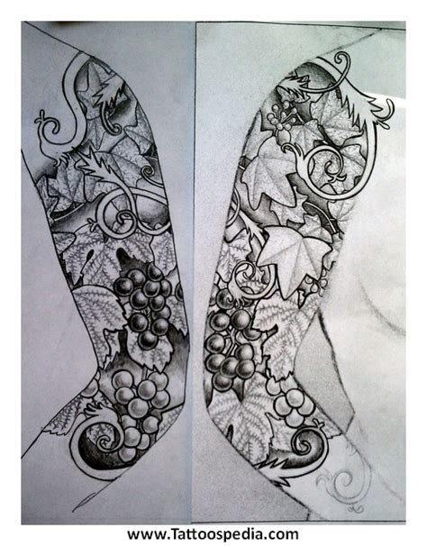 quarter sleeve tattoo template sleeve tattoos templates 3