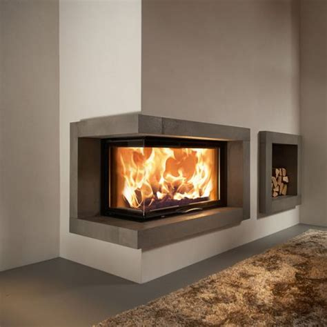 contemporary wood burning corner fireplace search