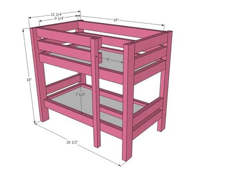 Sturdy Bunk Bed Plans Bunk Bed Plans With Amazing Look Creative American Doll Bunk Bed Plans Design