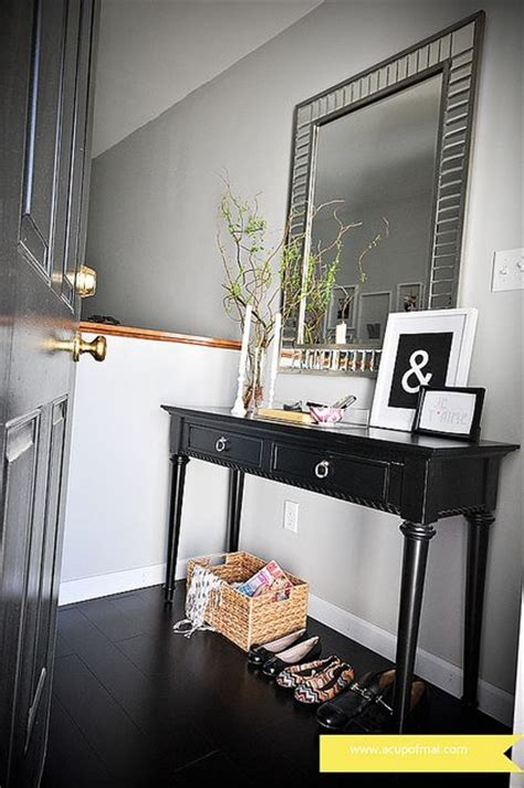Mirror And Table For Foyer Fairmont Mirror Is Above An Entryway Table Table Is From Target The Ersand